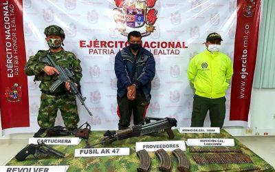 Cayó máximo cabecilla del GAOr Comisión Sexta comando conjunto central Adán Izquierdo de las FARC
