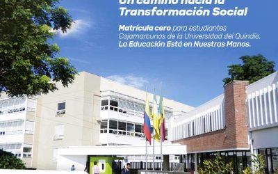 Estudiantes cajamarcunos tendrán matricula cero en la Universidad del Quindío