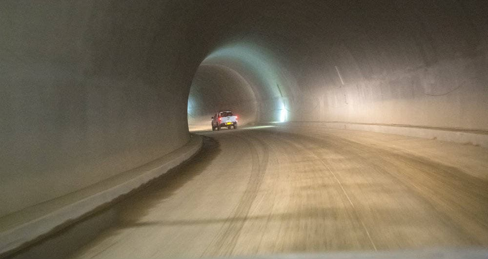¡¡Atención!!Obras del túnel de la línea, serán entregadas en 35 días exactamente, mire acá como quedó