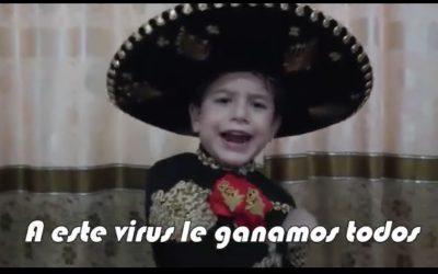 """Lucas Jiménez el niño que con una ranchera genera conciencia de """"Quedarte en Casa"""", el video más visto"""