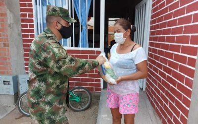 Ejército Nacional, Fundación El Nogal  y el ICBF entregaron mercados en Venadillo Tolima