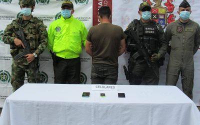 Cabecilla y jefe de finanzas del frente Ismael Ruiz, fue capturado en zona rural de Ibagué