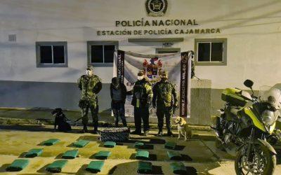 Autoridades incautan más de 63 kilos de marihuana en el Tolima